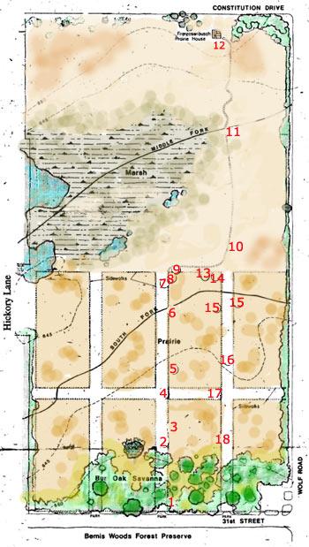 Map of Wolf Road Prairie